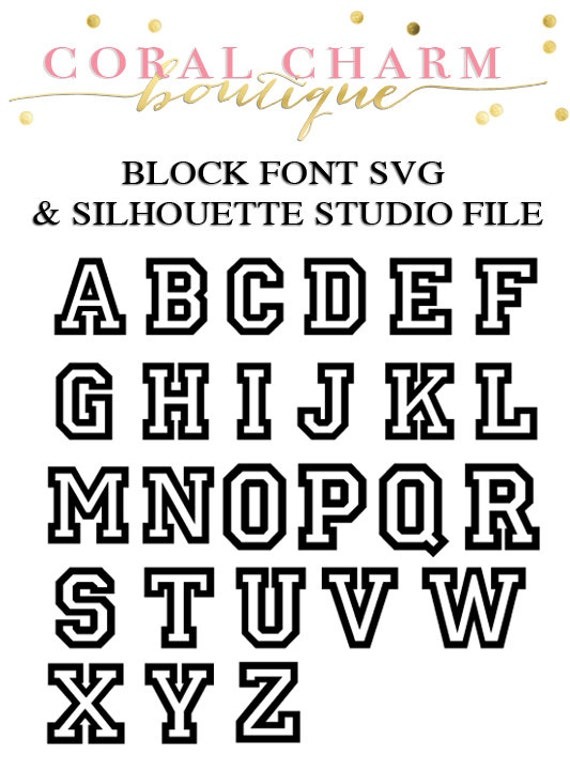 Download Varsity Block Font Files for Cutting Machines SVG and