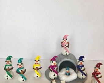 Snowman Nativity Set