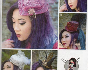 Yaya Han FASCINATORS McCall's Costume Pattern 7643 ~ HATS