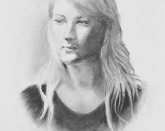CUSTOM Charcoal Portrait - custom charcoal drawing - custom charcoal art - custom portrait drawing