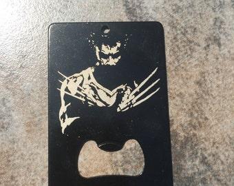 Wolverine X-men  Man Card  Laser etched Made to last also a bottle opener