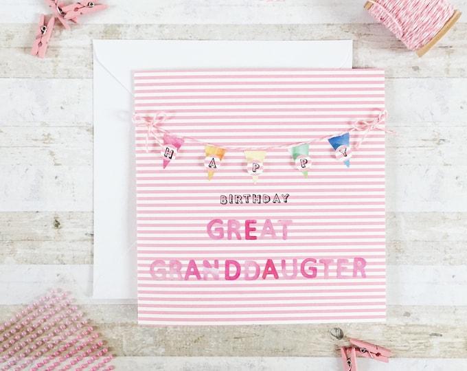Happy birthday card, multi coloured, birthday name card