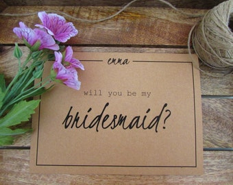 """Will You Be My Bridesmaid Card 