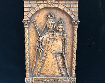 "ON SALE!! Vintage Barwood Boynton Plaque ""Our Lady of Consolation"""