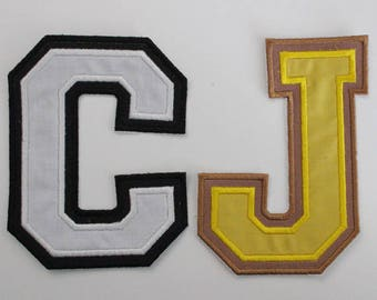 3 Inch Double Varsity Letter, College Alphabet, Iron On Letters, Embroidered Letters, Fabric Varsity Letters, Varsity Alphabet, Letterman