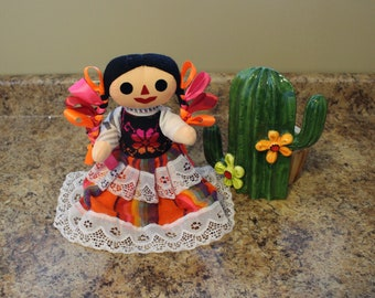 Mexican Rag Doll - Otomi Doll - Traditional Mexican Doll - Handmade Doll - Rag Doll - Mexico - Maria Doll - Vintage Doll - Mexican Folkart