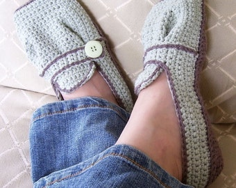 Ladies Sporty-Casual Crocheted Flats - Pattern PDF