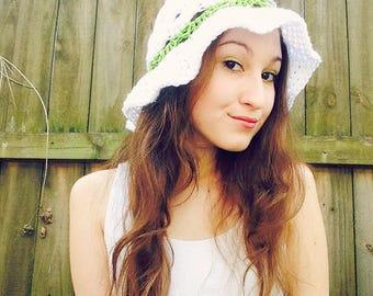 Crochet Striped Shell Summer Hats