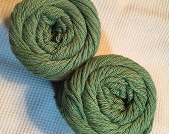 10a Lot of 2 Peaches n Cream Yarn 240 yds 5 oz Total 100% Cotton Rosemary