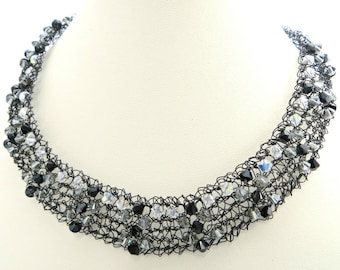 Crystal & Wire Necklace - Knitting Pattern PDF