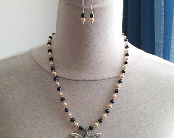 Honey Bee Necklace and Earring Set
