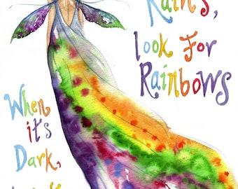 Rainbow Maker A4 Art Print - When it Rains look for Rainbows....