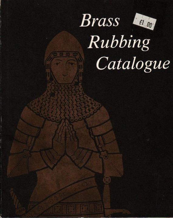 Brass Rubbing Catalog + Ann Davies + 1978 + Vintage Book