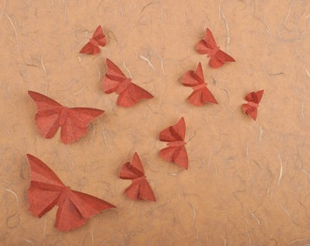 3D Butterfly Wall Art: Mahogany Paper Butterflies for Dorm Decor, Nursery, Children's Room