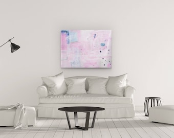 Abstract Wall Art Painting, Home Decor, Large Abstract Painting, Contemporary Art Painting, Pink Abstract Art, Large Acrylic Painting