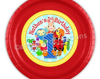 BabyFirst TV Birthday Party Personalized Meal Plates pack of 12  sc 1 st  Etsy & Personalized paper plates | Etsy