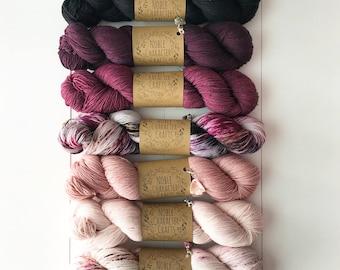 Hand-dyed Yarn Kit - Continual Feast Faded Kit - Hand-painted Yarn - Merino Wool Yarn - Indie-dyed Yarn