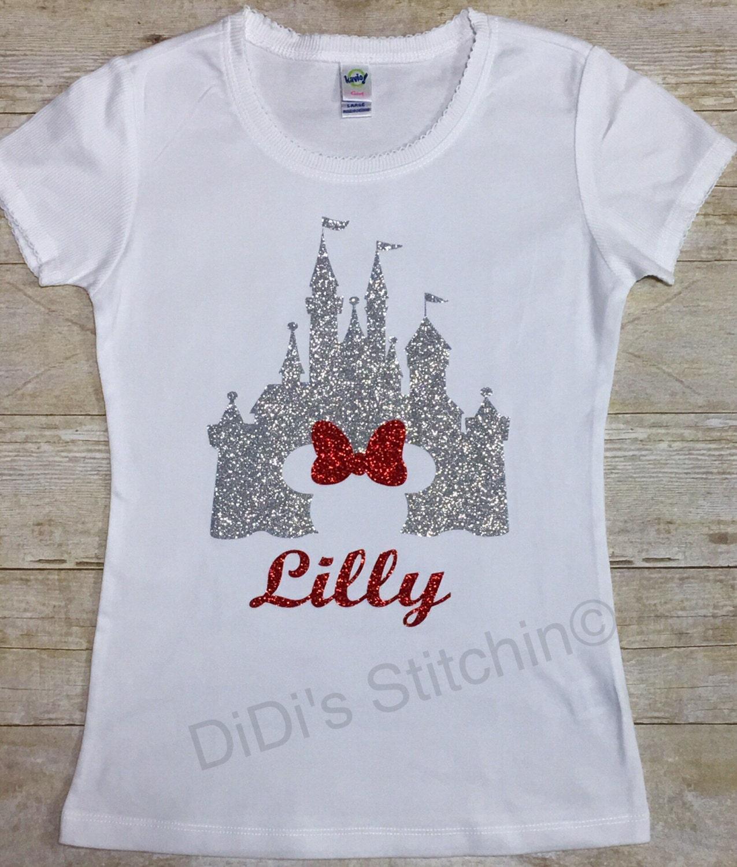 Disney Castle Cinderella Castle Kids Disney Shirts Custom