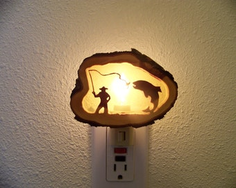 Fly Fisherman nightlight