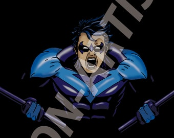 I can't replace you, Bruce... (DC Nightwing Digital art print)