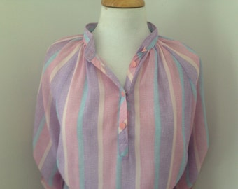 80's The Dress Company Print Stripe dress, Size 14, US size 12