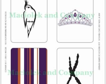 Birds, Cockatiel, Divatiel, Tiara, journaling cards, planner, instant download,bookmark, scrapbooking, project life