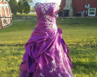 Purple Ball Gown Prom Dress