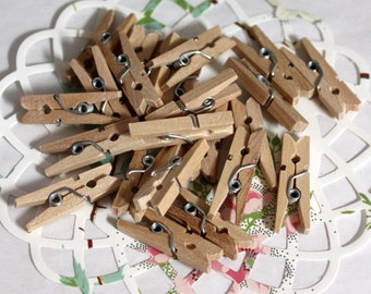 100 Mini Clothespins