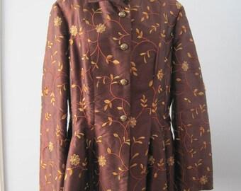 Floral Print Peplum Jacket