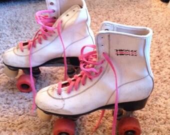 Vintage 1980s Variflex girls' roller skates size 7