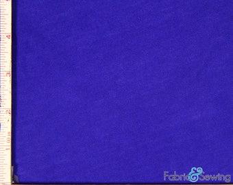 "Royal Blue Knit Slub Jersey Fabric 2 Way Stretch Rayon Slub 6 Oz 58-60"" 780165"