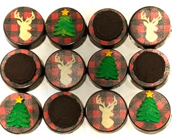 Buffalo Plaid, Glam, Chocolate Covered Oreo's, Christmas