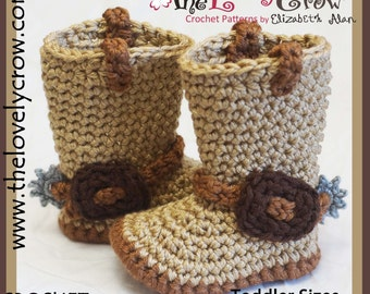 Crochet Pattern Cowboy Boots TODDLER