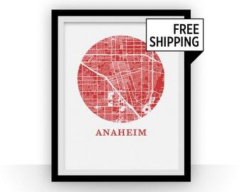 Anaheim Map Print - City Map Poster