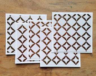 mini note cards * mini envelopes * mini notecards *  mini square envelopes * mini square cards * thank you cards * eco friendly gift * kraft