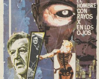 X - 10x15 Giclée Canvas Print of Vintage Spanish Movie Flyer