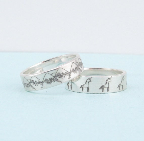 Personalized Ring Custom Design Ring Drawing Ring