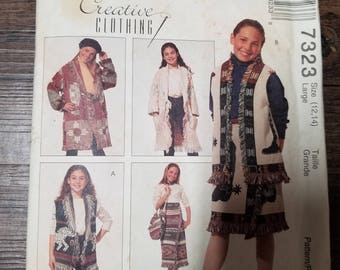 McCall's Pattern Child Size 12-14  #7323