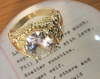 CLEARANCE-Estate Sale- Ruby Gold Ring & Clear Sapphire Gold Ring