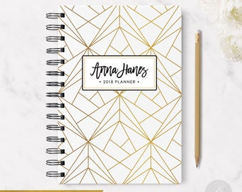 2018 Monthly Planner #9 - Hardcover - Coil Bound - Tabbed - Weekly Planner