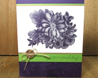 Enjoy your Day Card: Stampin Up, Handmade Flower Card