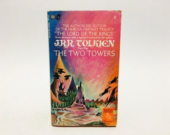 Vintage Fantasy Book The Two Towers by J.R.R. Tolkien 1969 Edition Paperback
