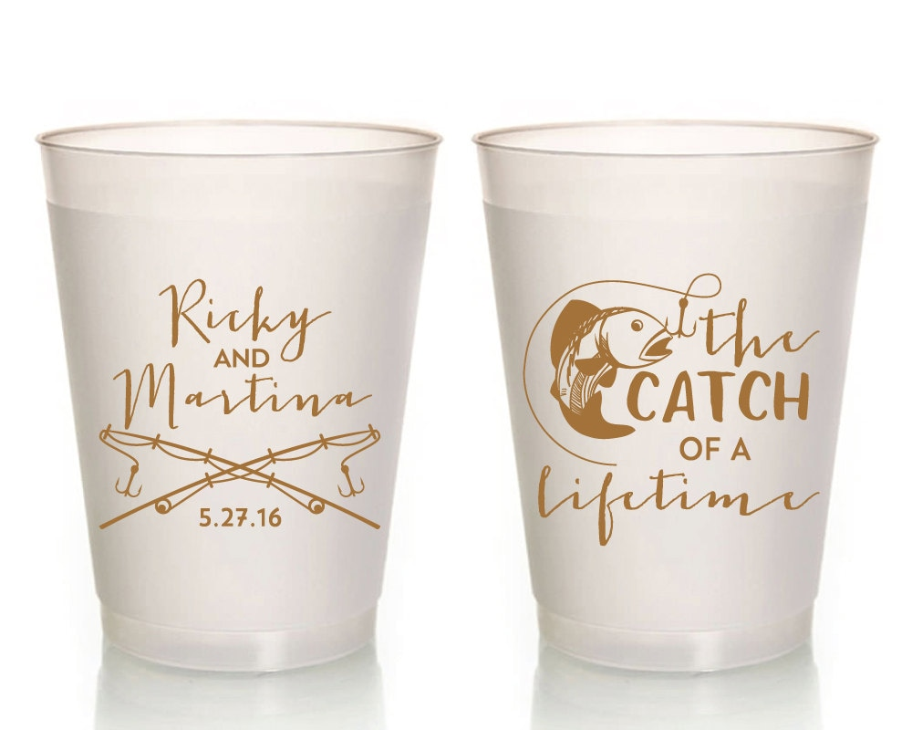 Fisherman Wedding Cups Wedding Cups Catch of a Lifetime