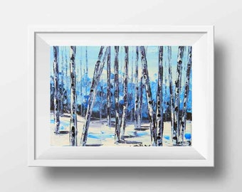 Colorado Art, Birch Tree, Colorado Print, Birch Tree Print, Tree Art, Giclee Print, Wall Decor, Rustic Home Decor, Birch Trees, Art Print