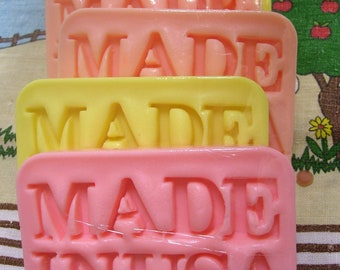 Made In USA Soap, American Soap, Bath Soap, Novelty Soap, You pick scent & color