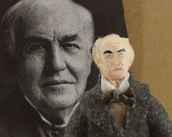 Thomas Edison Collectible Doll Scientific Inventor American Scientist