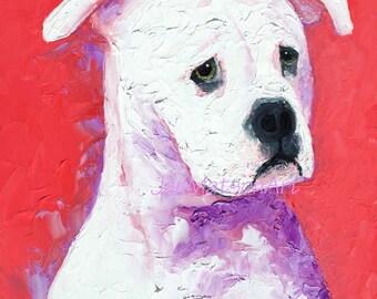 BULLDOG painting, dog Animal Art, oil painting, American bully, bulldog portrait, Etsy Art, Jan Matson