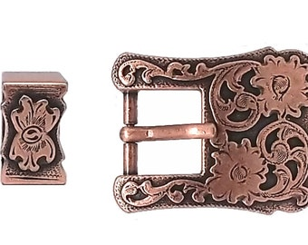 "Buckle and Keeper Copper Plated for 3/4"" Belts 3425-10"