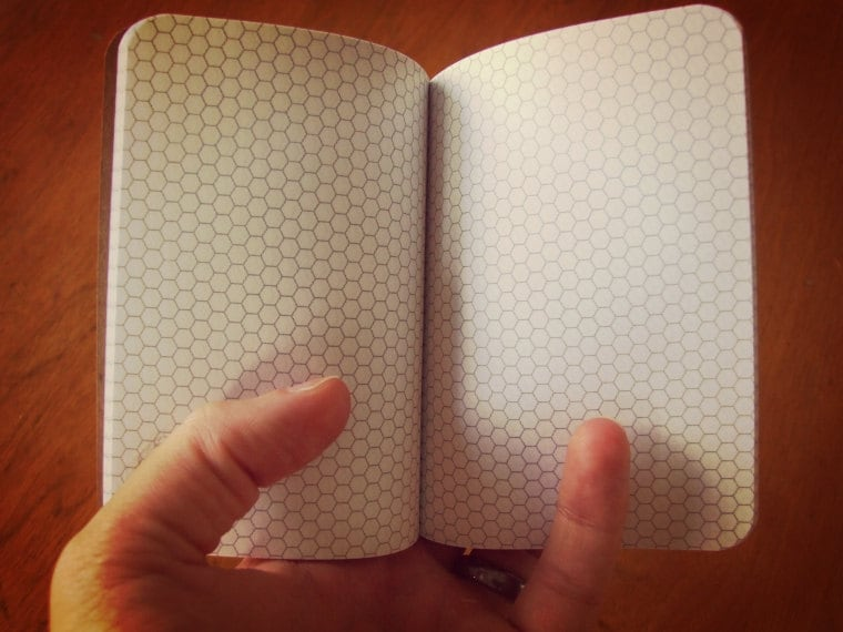 Civilization V Hex Paper Notebook Pocket Journal Gamers