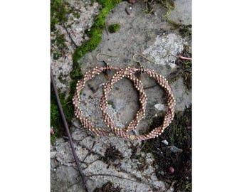 Αииєαυx earrings in macramé and copper ąɱɓŗę